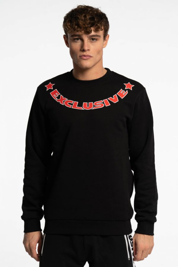 CREWNECK BICOLOR RED-WHITE