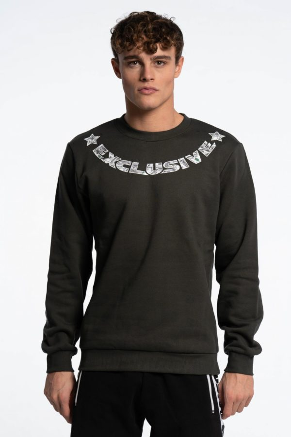 CREWNECK DOLLAR MILITARY GREEN