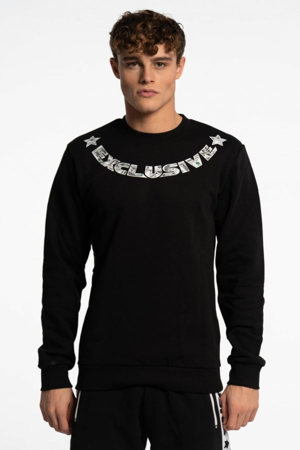 CREWNECK DOLLAR BLACK