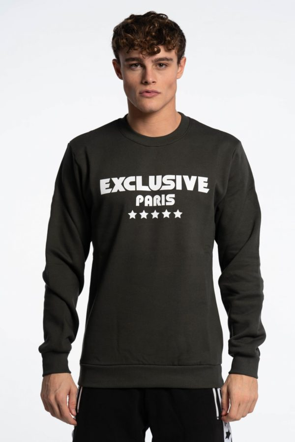 CREWNECK BASIC MILITARY GREEN